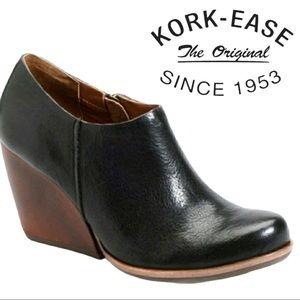Kork-Ease Holmes Leather Block Heel Ankle Booties